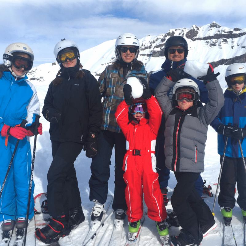 Sylvie Ganter, Ski en Famille